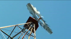 Old working western windmill Stock Footage