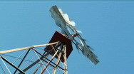 Stock Video Footage of Old working western windmill