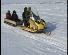 Snowmobiling Stock Footage