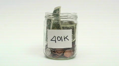 Adding to 401k funds - HD  - stock footage