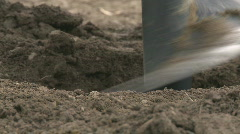 extreme close up of an auger digging  - stock footage