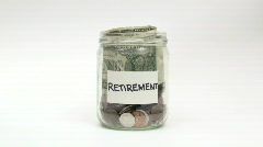 Saving for retirement - HD  - stock footage