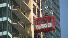 Construction elevator. Stock Footage