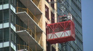 Stock Video Footage of Construction elevator.