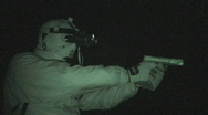 Stock Video Footage of night vision target practice