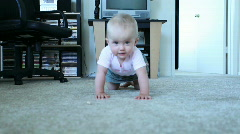 Baby crawl - stock footage