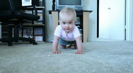 Stock Video Footage of Baby crawl