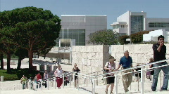 Arrival at the Getty Center Stock Footage