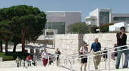 Stock Video Footage of Arrival at the Getty Center