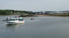 Lobster boats 410-1 Stock Footage