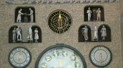Astronomical clock Stock Footage
