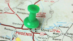 Push pin in Phoenix Stock Footage