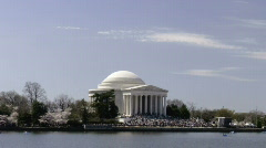 Jefferson Memorial and Tidal Basin - stock footage