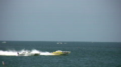 Offshore marine race Stock Footage