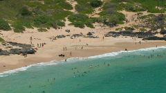 Makapuu beach hdp Stock Footage