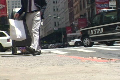 NYPD 7 Police Cars Stock Footage
