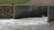 Db Perry Lake Spillway Stock Footage