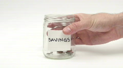Vanishing savings - HD  Stock Footage