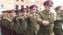 AFD Parade 1 serving forces - stock footage