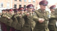 AFD Parade 1 serving forces Stock Footage