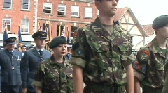 AFD Parade 1 cadets 2 Stock Footage