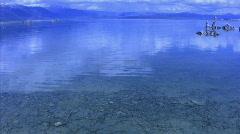 Mono Lake 01 Crystal Clear Water Loop / Sierra Nevada Mts, California, USA Stock Footage