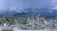 Mono Lake 02 Loop / Sierra Nevada Mts, California, USA Stock Footage