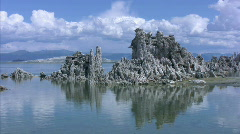 Mono Lake 03 Tufa Towers A LS Loop / Sierra Nevada Mts, California, USA - stock footage