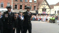 AFD Parade 1 cadets Stock Footage