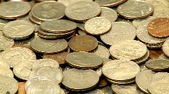 Coins in Motion 1 of 4 Stock Footage