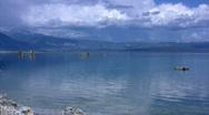 Stock Video Footage of Mono Lake 11 Shore Loop / Sierra Nevada Mts, California, USA