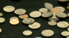 Coins in Motion 4 of 4 Stock Footage