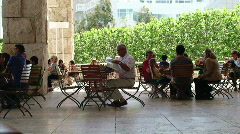 Lunch at the Getty Center Stock Footage