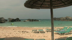 Caribbean Beach Paradise - Blue waters and white sandy beaches Stock Footage
