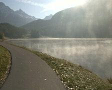 St. Moritz Lake Morning 1 - stock footage