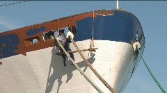 Worker repair the ship Stock Footage