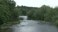 River Tees at Piercebridge Stock Footage