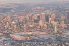 Aerial View Of Prairie City Stock Footage