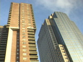 Home and Office Buildings Long Time Lapse Stock Footage