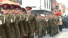 AFD Parade 2 serving forces - stock footage