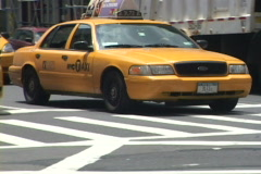 NYC Taxi 2 of 3 - stock footage