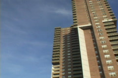 Apartment Buildings Time Lapse Stock Footage