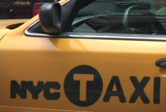 NYC Taxi 3 of 3 Stock Footage