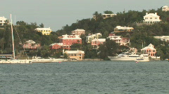 Bermuda - Gorgeous caribbean island with blue waters, yachts and mansions Stock Footage