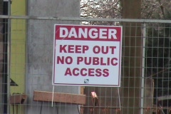 Danger Keep Out Sign - No Public Access Stock Footage