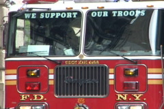 NYC Fire Department 10 Support Troops Stock Footage