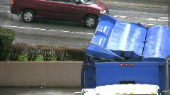 Garbage Recycling Truck (HD 1080p30) Stock Footage