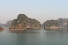 Scenic Halong Bay in Vietnam Stock Footage