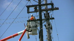 Hydro Repair Team Fixing A Problem On The Line(HD 1080p30) Stock Footage