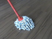 Mopping Laminate Flooring (Left to Right) Stock Footage